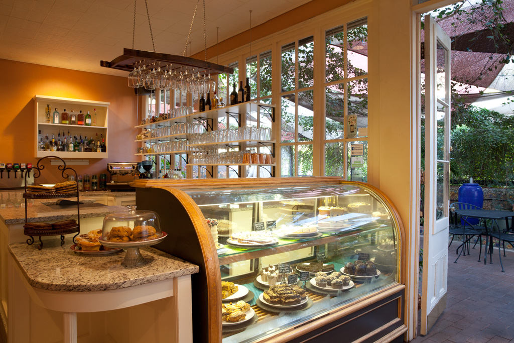 Pastry case at Cafe a la C'Art in Tucson